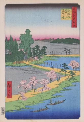 江戸百景 吾妻の森連理の樟