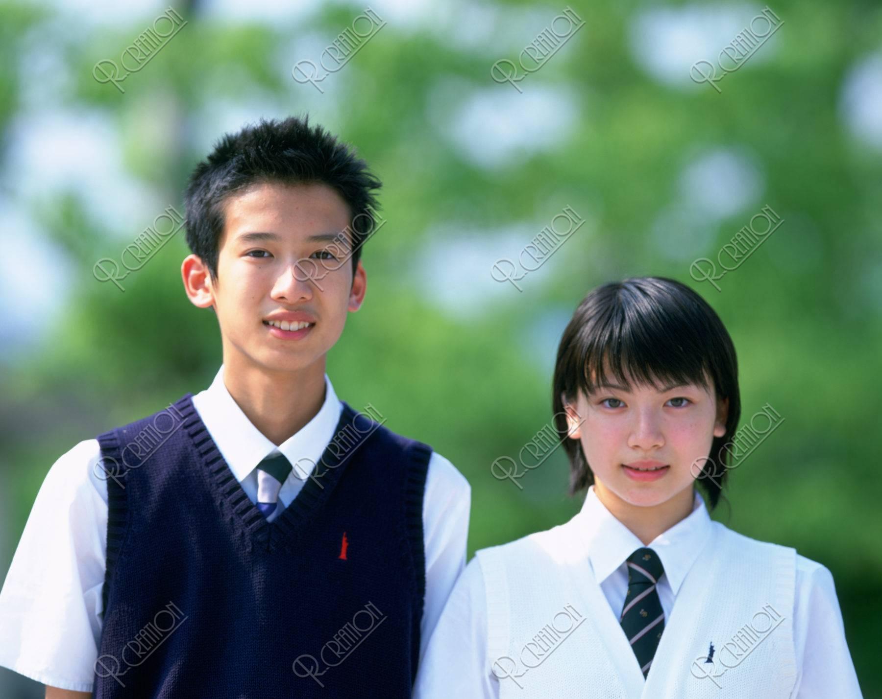 高校生カップル制服