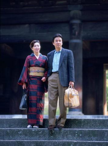 南禅寺三門 和服の40代 女性