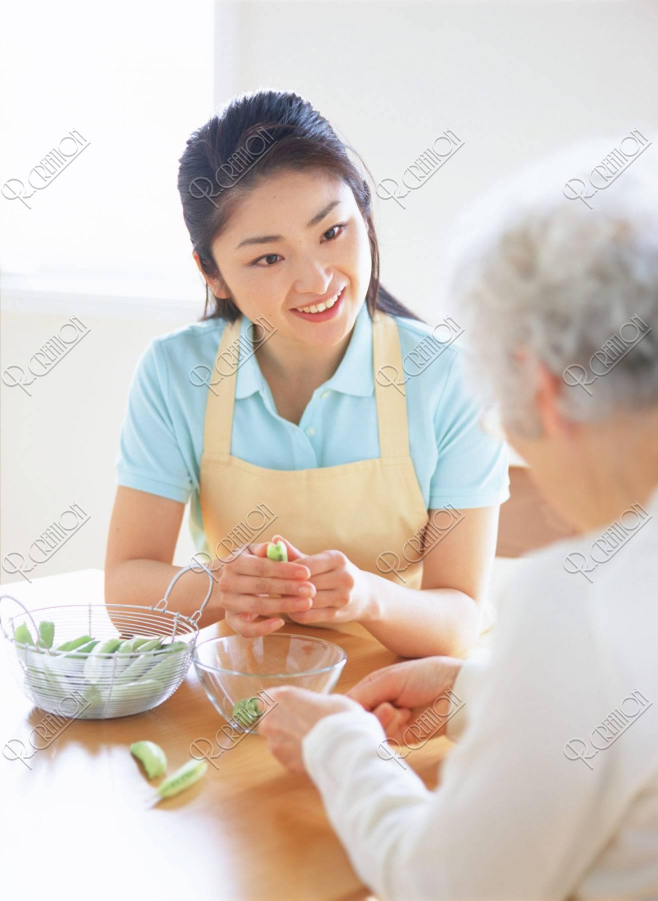 介護人とお年寄り