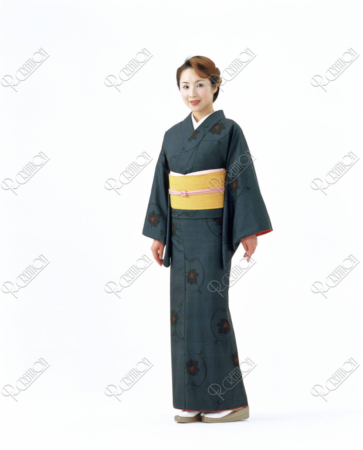 大島紬の女性