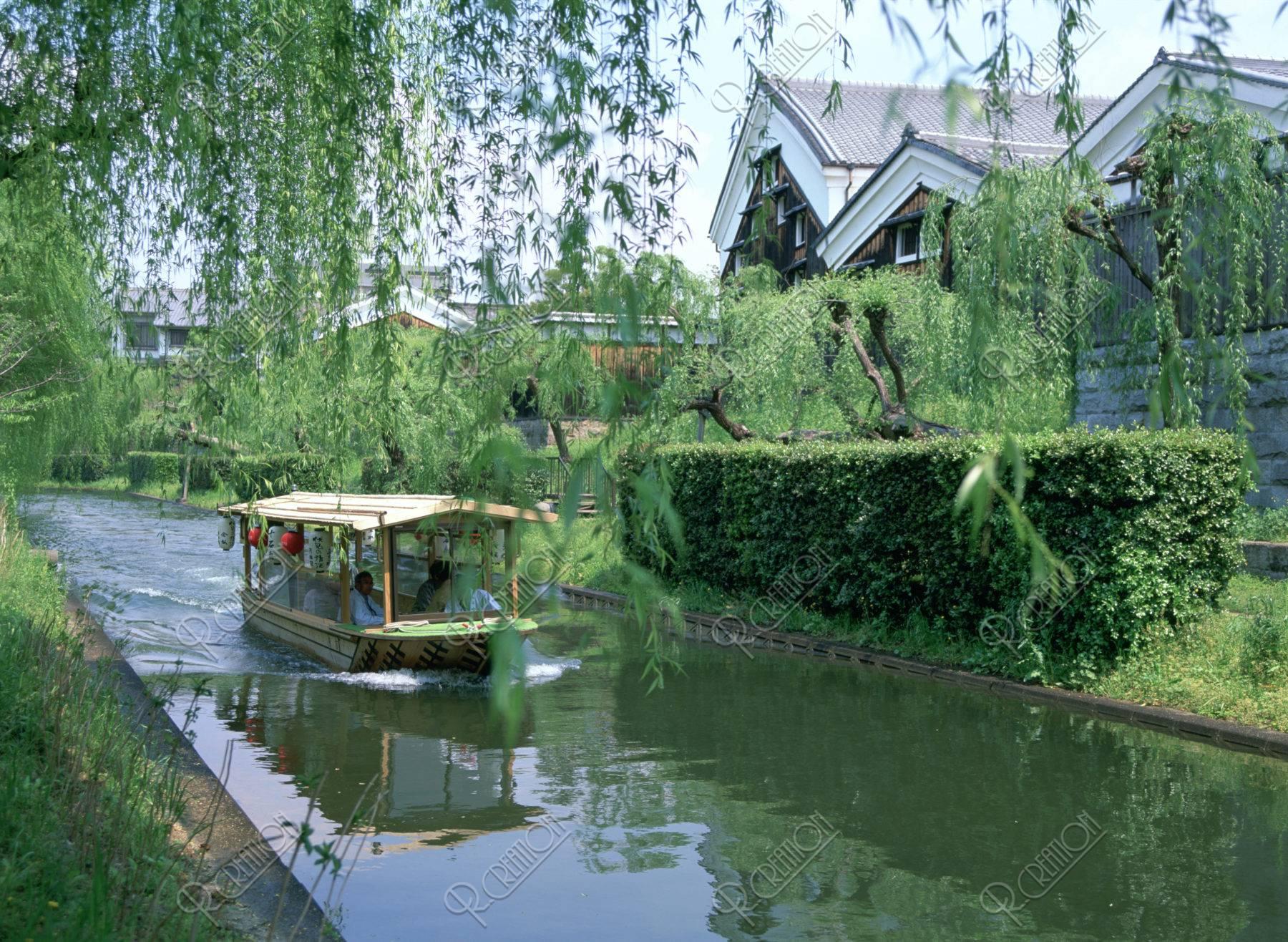 伏見の酒蔵と十石舟