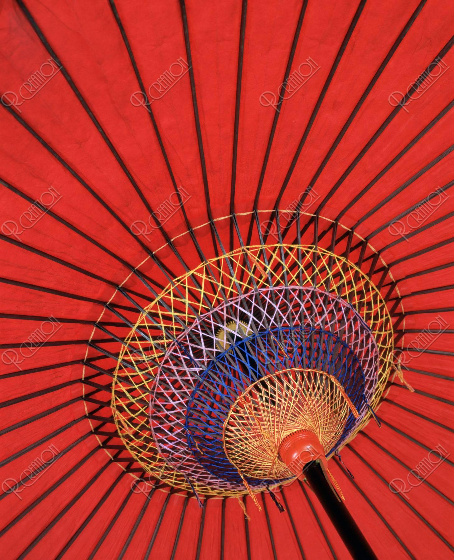 紅傘 野点傘