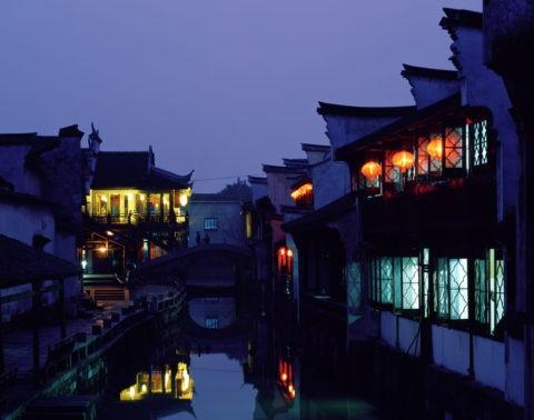 運河の夜景 烏鎮