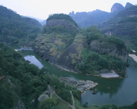 武夷山 天遊峰から 川下り 世界遺産