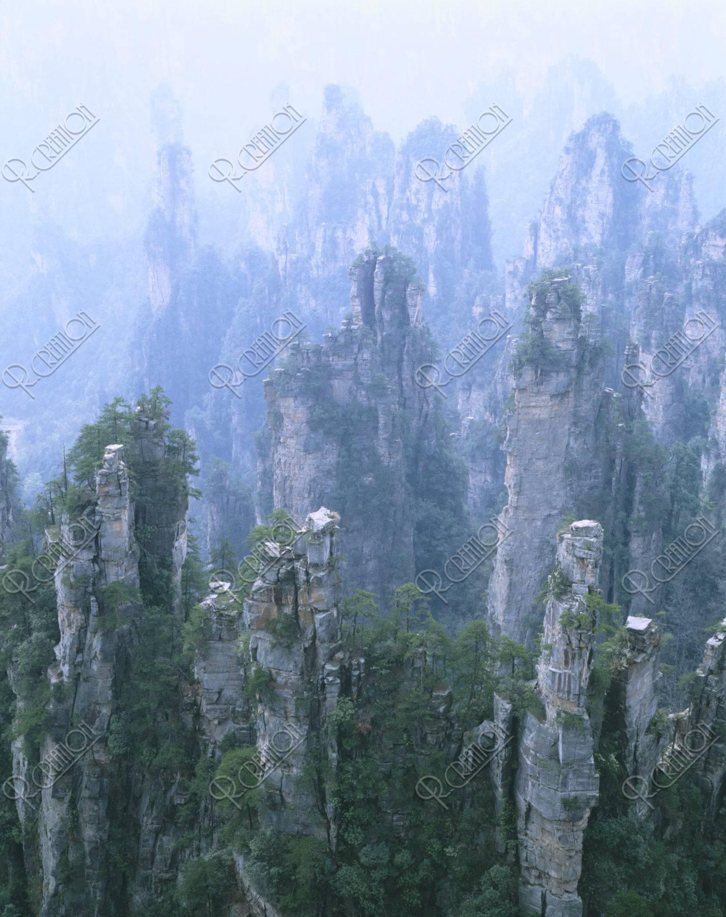 武陵源 張家界 天子山 世界遺産