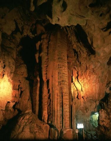 秋芳洞 黄金柱
