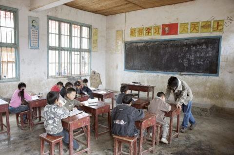 鳳凰郊外 都羅寨 土家族の小学校授業風景