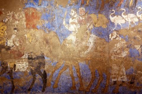 サマルカンド歴史博物館 ソグド人の壁画 W
