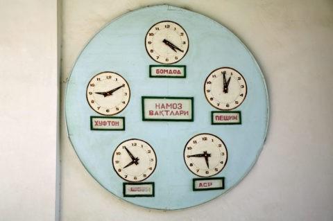 イスラム 祈りの時間時計