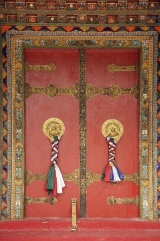 ノルブリンカ宮 門の飾り ラサ市