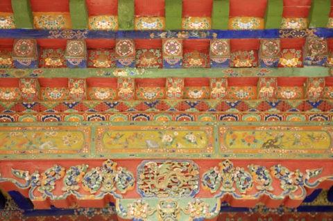 ノルブリンカ宮 軒下の装飾 ラサ市