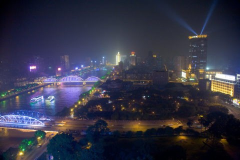 珠江と夜景 広州市