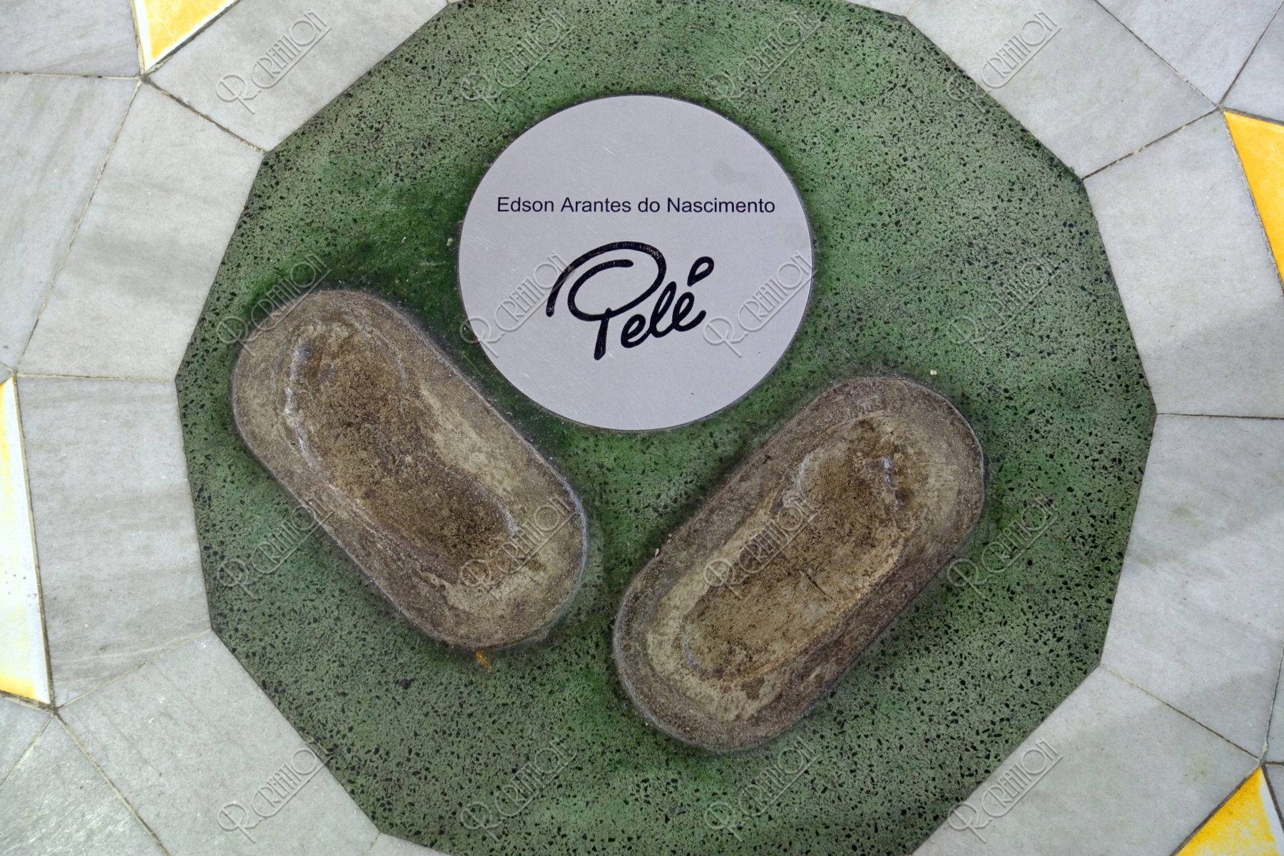 ペレの足型 マラカナンスタジアム