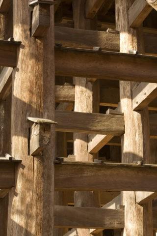 清水寺 舞台 足組 基礎 木材 世界遺産