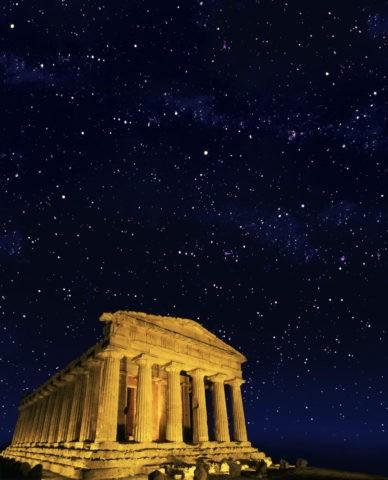 コンコルディア神殿 世界遺産 星空 夜景 合成