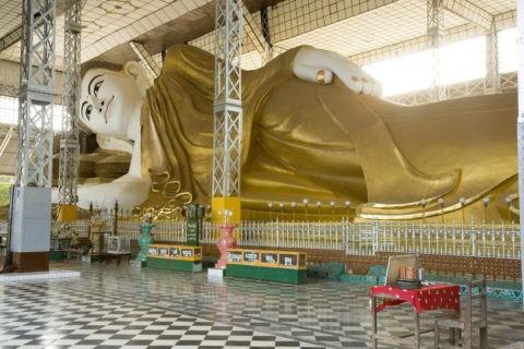 シュエターリャウン寝仏 寝釈迦 仏像 仏教