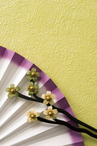 和風 扇子 髪飾り かんざし 桜