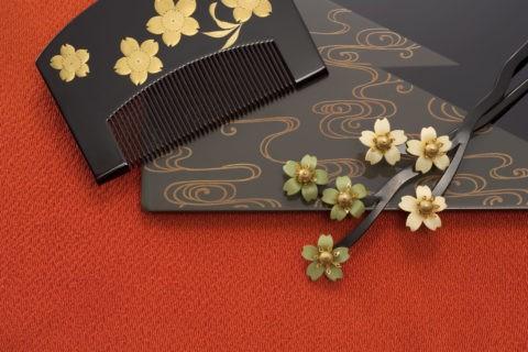 和風 髪飾り かんざし 櫛 桜