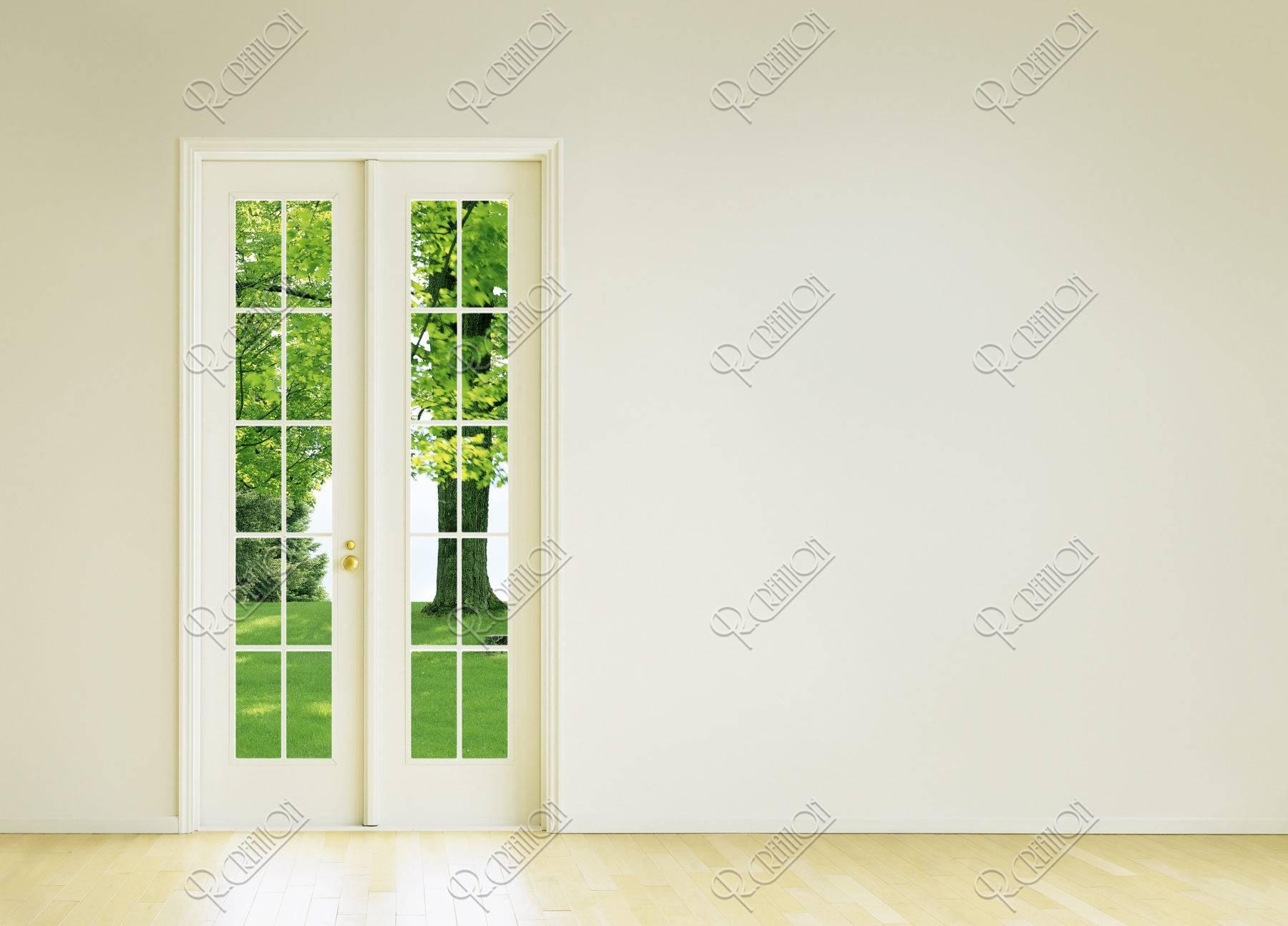 窓辺 新緑 合成