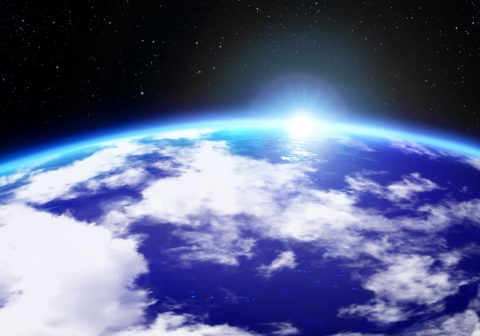 宇宙 地球 星 合成