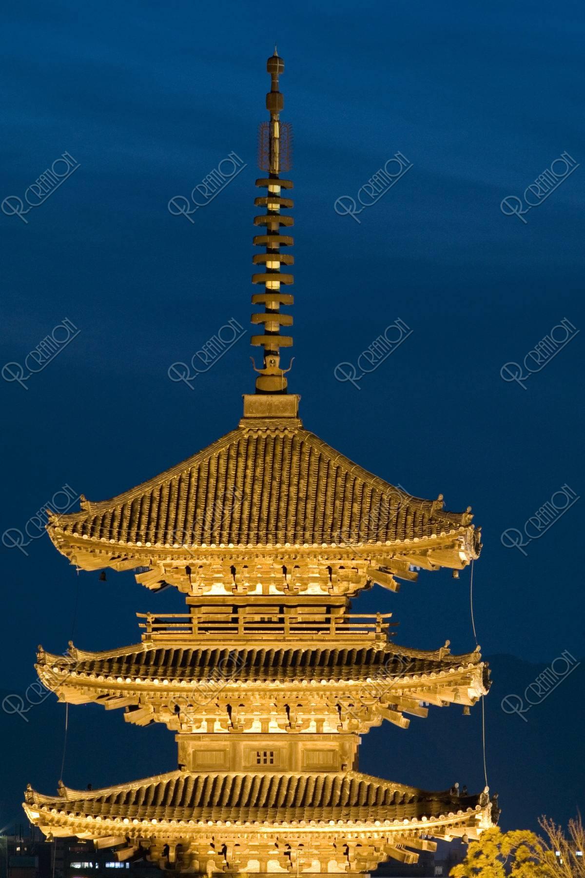 八坂の塔 夜景
