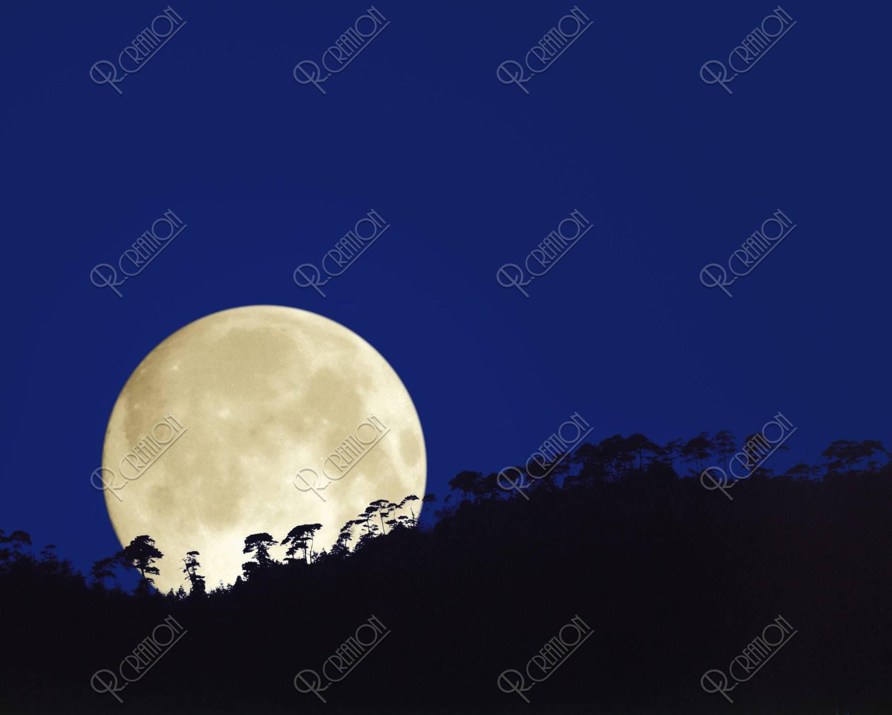 満月 小倉山 CG