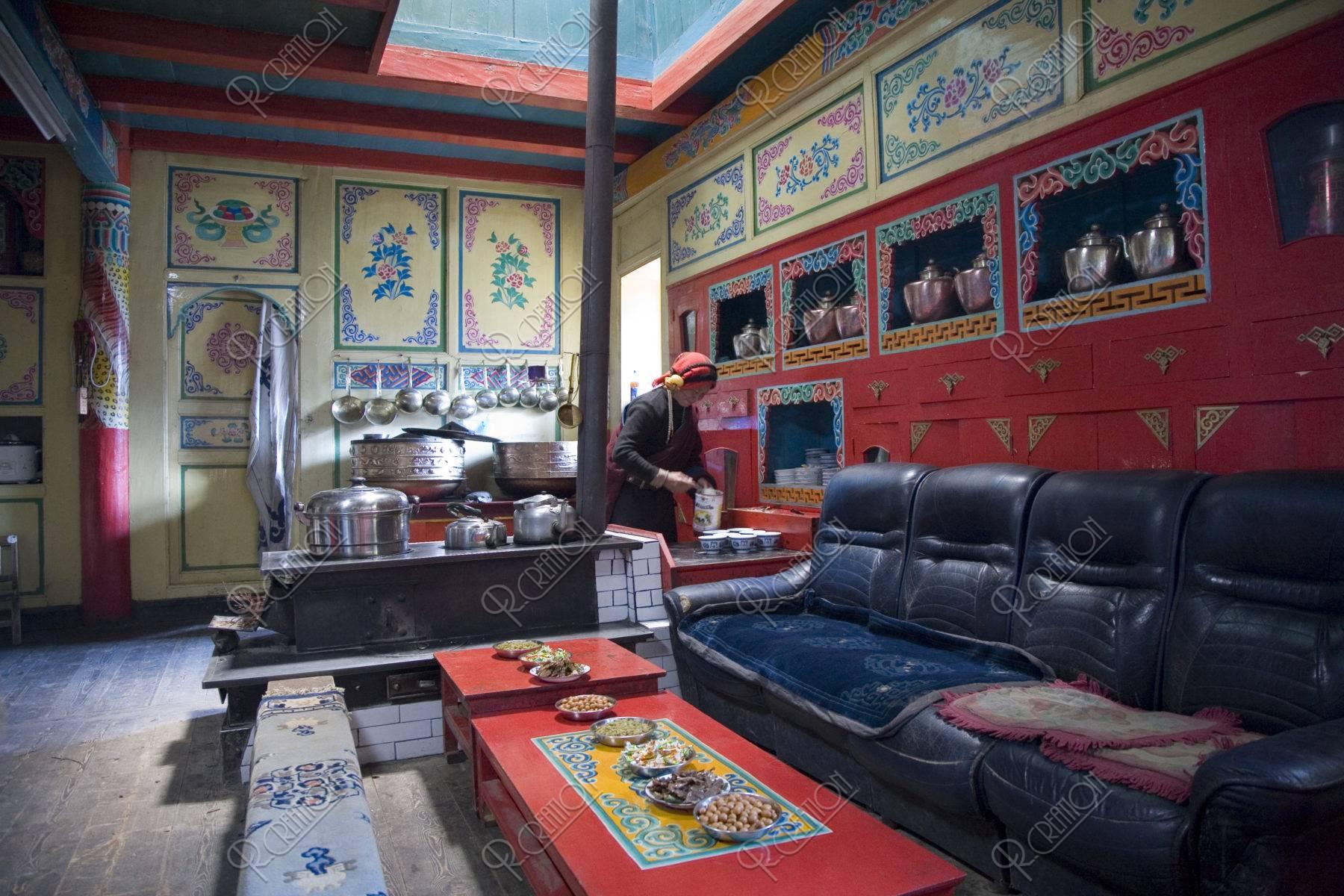 チベット族の居間