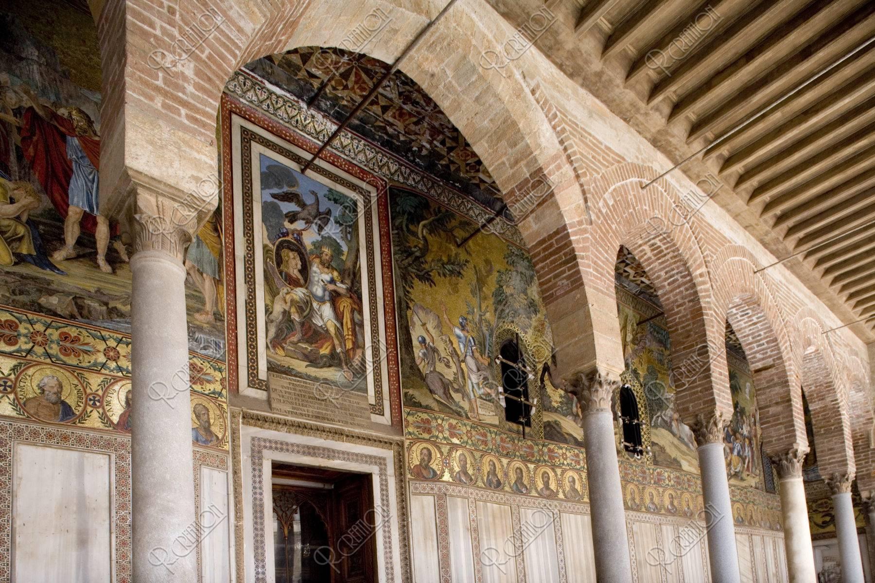 パラティーナ礼拝堂 回廊のモザイク W