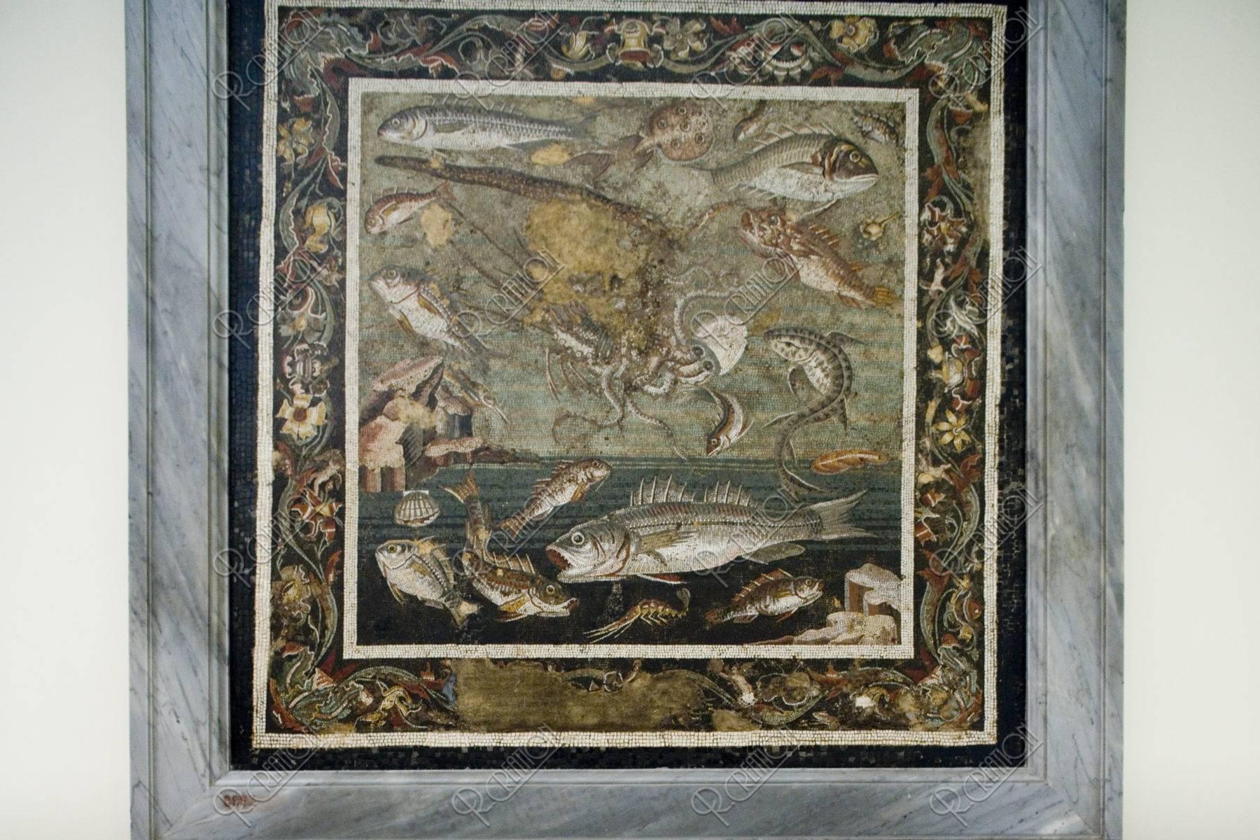 ナポリ考古学博物館内 モザイク