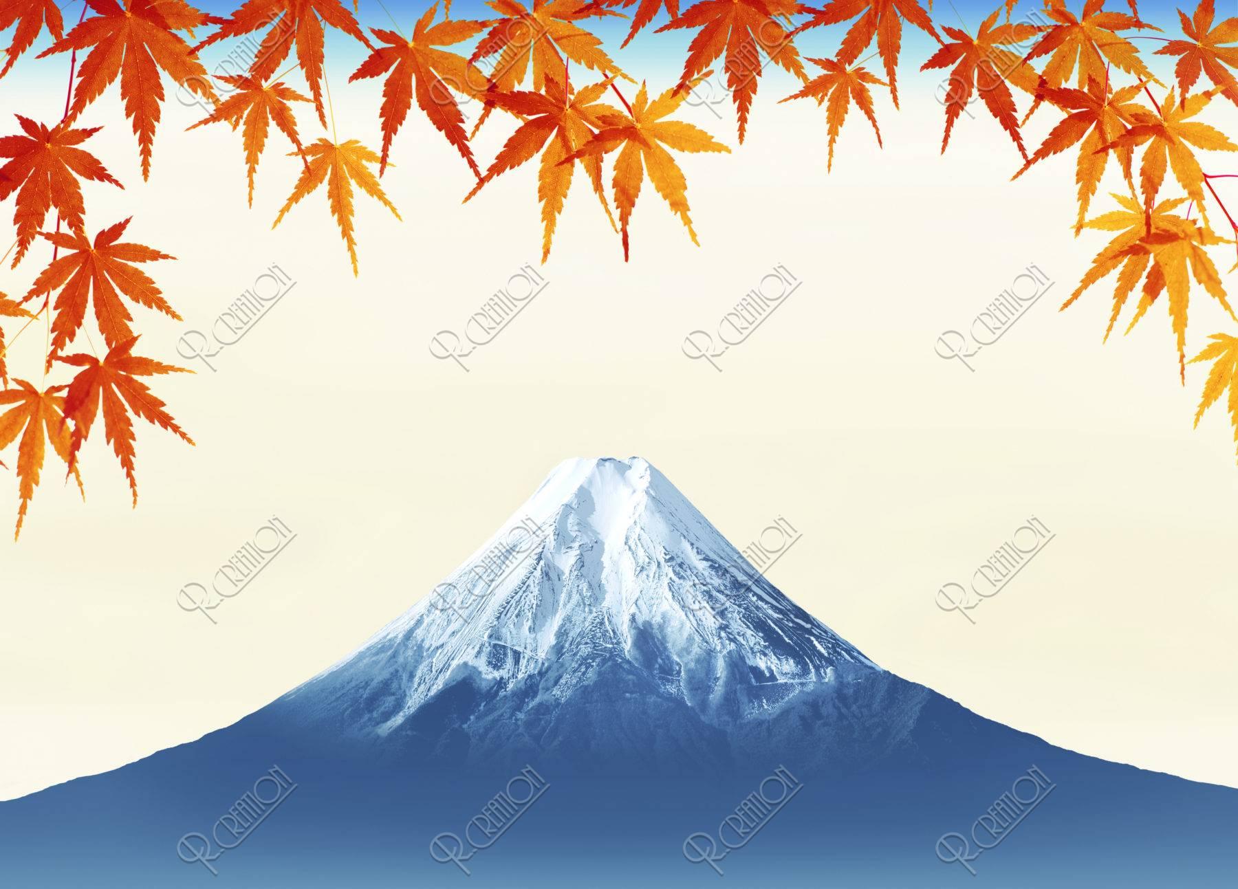 富士山 紅葉 秋 CG