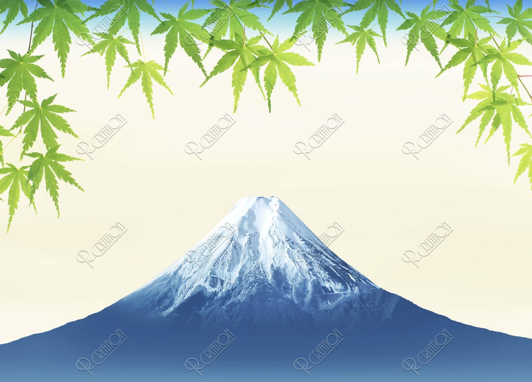 富士山 新緑 夏 CG