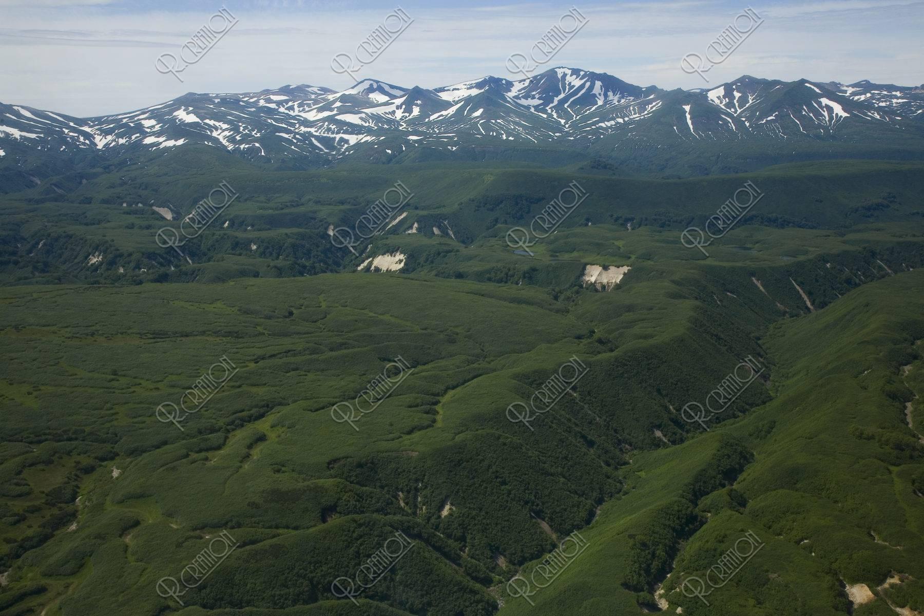 火山群と原生林