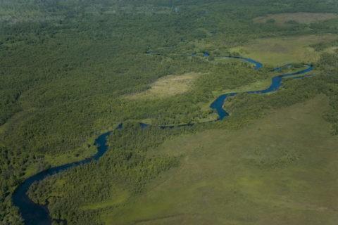 蛇行する川 世界遺産