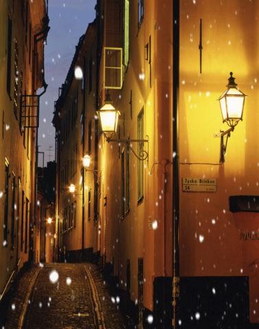 雪降る街角 CG