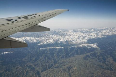 上空からの崑崙山脈