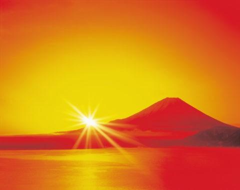 富士山の初日の出 CG