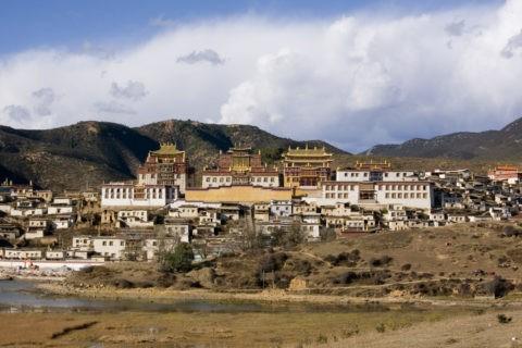 松賛林寺全景 香格里柆