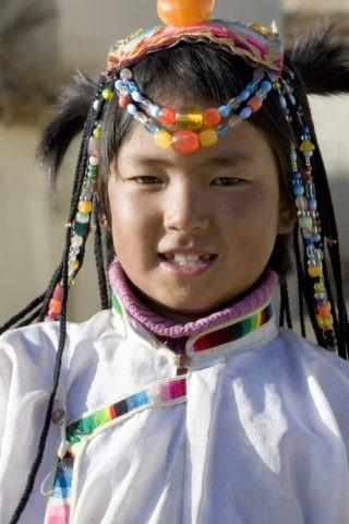 チベット族の少女 香格里柆