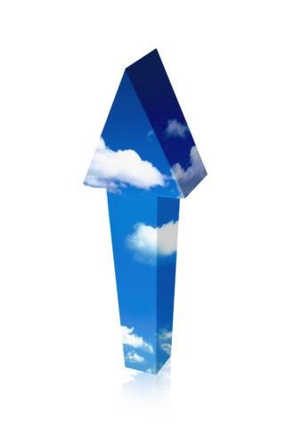 青空の矢印 CG