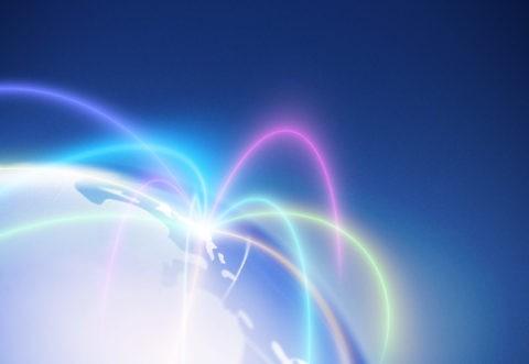 地球儀とネットワーク CG