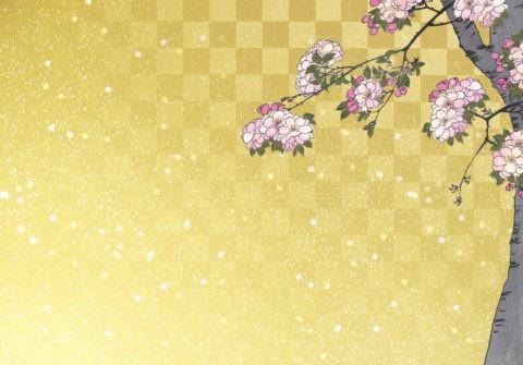 浮世絵の桜 和風イメージ CG