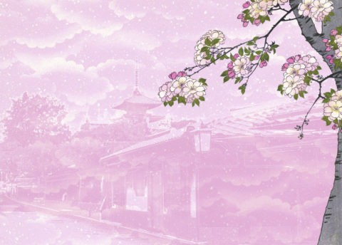 京都と桜のイメージ