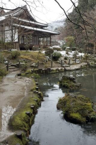 雪の南禅寺天授庵庭園