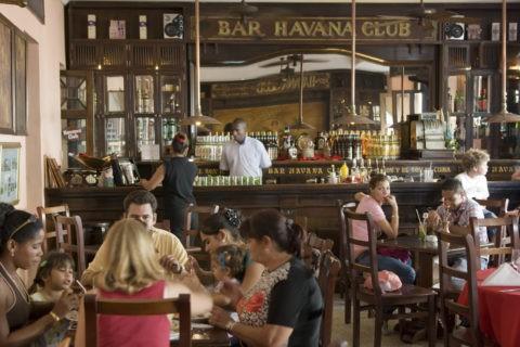 ハバナ・クラブ博物館のバーカウンター