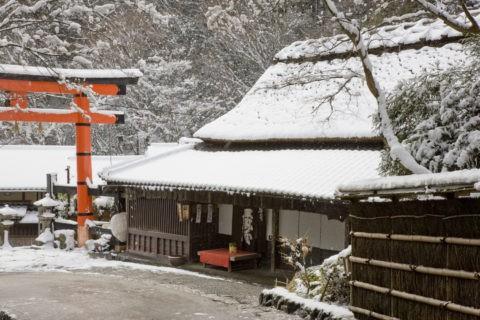 鳥居本 平野屋 雪景色