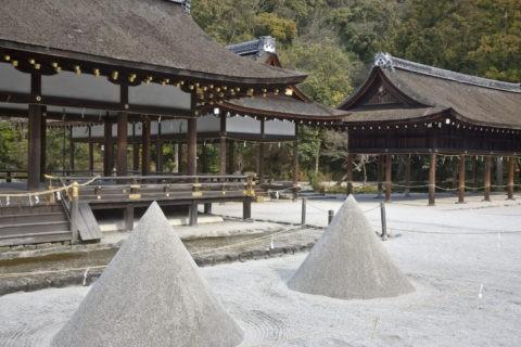 上賀茂神社 立砂と細殿 世界遺産