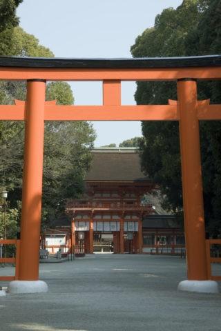下鴨神社楼門と大鳥居 世界遺産