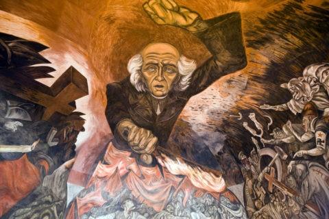 オロスコの壁画 ハリスコ州庁舎