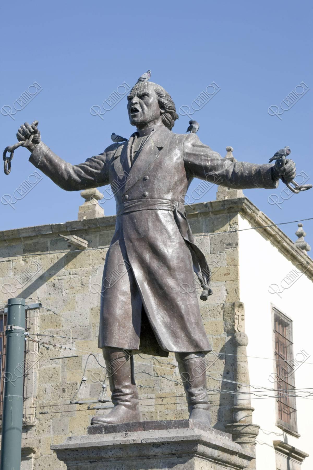 イダルゴ神父の像